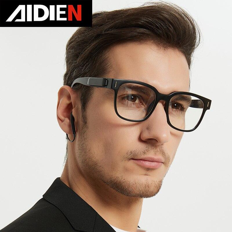 Bluetooth 5.0 Wireless Headphone glasses anti blue light custom diopter myopia eyewear Music headphone prescription Glasses