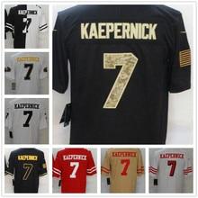 Football-Jersey Colin Kaepernick American Big-Size Men 7 Stitched Customized Black Yellow
