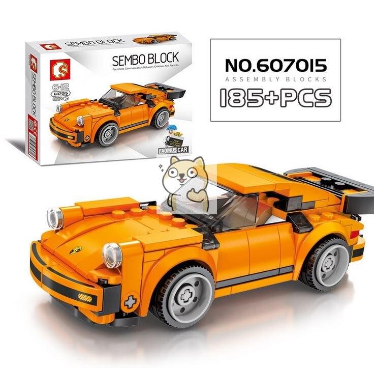 Детские сборные игрушки знаменитый автомобиль супер бегущий гоночный маленькие частицы Волшебные блоки для сборки конструктор-головоломка - Цвет: 015