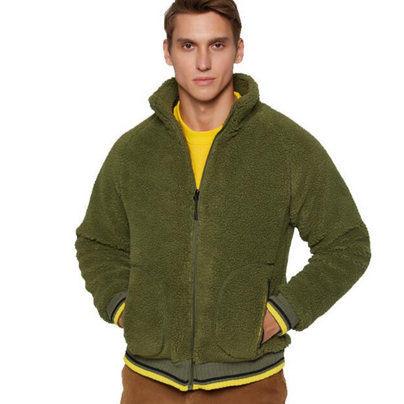 Image 4 - EU US Size Lamb Plush Men Jackets Antumn Winter Hoodie  Jacket  Coat Fashion Designer Outwear Hip Hop Mens Hoodies 2XLJackets   -