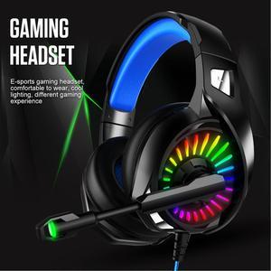 Image 3 - PS4 casque de jeu 4D stéréo RGB chapiteau écouteurs casque avec Microphone pour nouveau Xbox One/ordinateur portable/ordinateur tablette Gamer