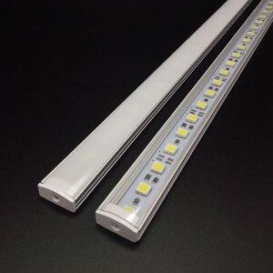 Image 2 - Kitchen Light expert DC12V 5050 LED Hard Rigid  Strip Bar +U aluminium+flat cover kitchen strip light 5pcs milky 50 cm