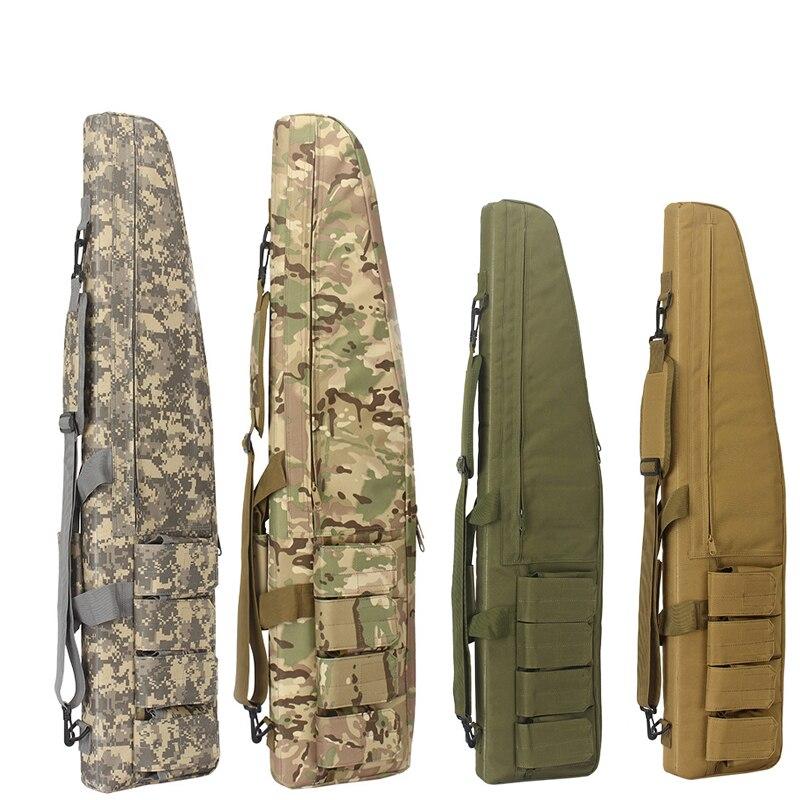 Impermeabile Tattico Heavy Duty Gear Lungo Sacchetto della Pistola di Caccia di Airsoft Militare Schiuma di Gomma Sniper Rifle Scope Caso di Arma Da Fuoco Pacchetto