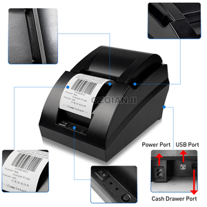 Image 4 - 58mm thermal USB Bluetooth 2 inch receipt Bill printer 58mm usb thermal printer usb pos system for supermarket