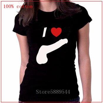 2020 camisetas de moda I Love Cock, camisetas con Logo de mujer, ropa de Anime, camisetas grises, geniales camisetas de algodón para mujer, camisetas deportivas de manga corta