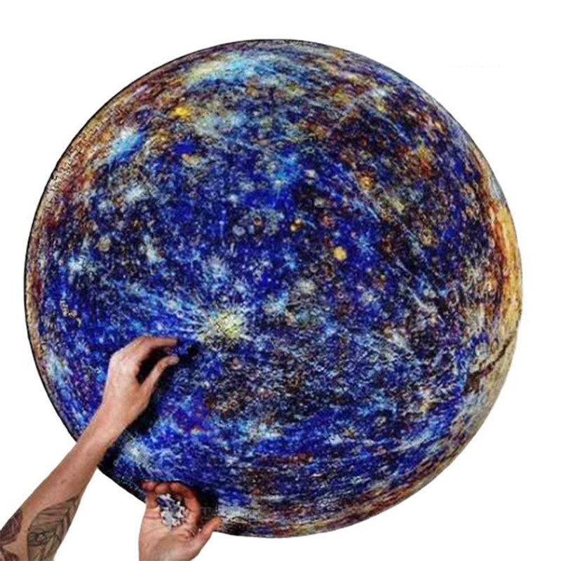1000 Pieces Jigsaw Puzzles Children Educational Toy Space Stars Moon Earth Dropship Round Puzzle Game Toys for Adults Kids Gifts 20