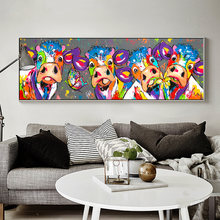 Абстрактная корова холст настенные картины художественные плакаты