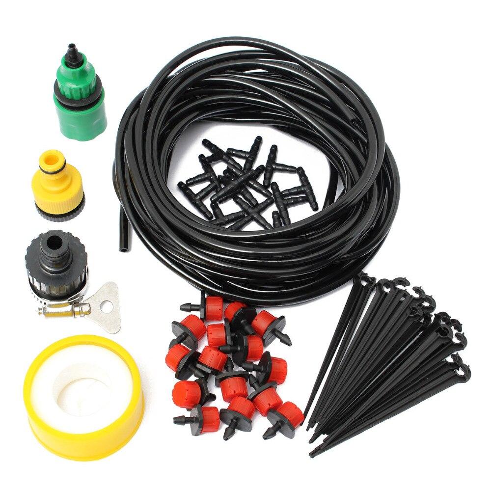 10m 32.8ft Micro Tropfen Bewässerung System Zerstäubung Selbst Bewässerung Garten Schlauch Kits mit Stecker Micro Sprinkler Kühlung Suite