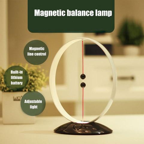 suspensao magnetica balanceamento lampada de carregamento usb led simples inteligente luz da noite