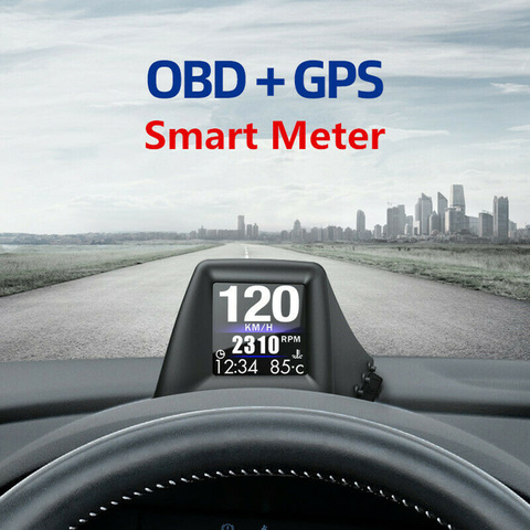 universal hud head up display obd gps medidor inteligente dashboard