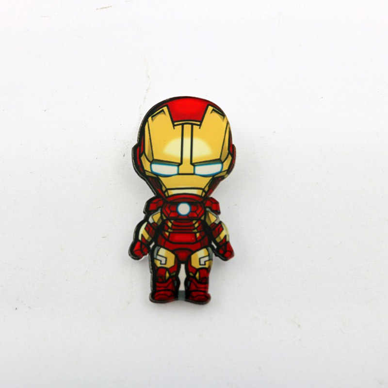 5 Pcs/lot Marvel Lencana Avengers Bros Pin Thor Pin Film Endgame Perhiasan Iron Man Captain America Spiderman Bros untuk Wanita pria Hadiah