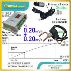 Dual kv 0.2m3/h electronic automatic expansion valve can work as hot bypass valve and oil return throttle valve simultaeously