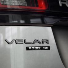 Bar Emblem for Range Rover VELAR Letter Car Styling Trunk Logo Sticke For P250 P300 P380 P400e D180 D240 D300 S SE HSE R-DYNAMIC