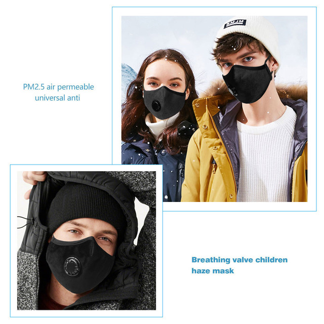 Valve Anti-dust PM2.5 Filter Motorcycle Mask Washable Mouth Mask Protection Respirator Face Mouth Cover 1