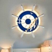 Mediterrane Stijl Wandlamp Woonkamer Slaapkamer Lamp Creatieve Eenvoudige Amerikaanse Jongen Kinderkamer Wandlamp Slaapkamer Licht