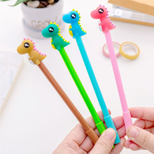 Cute cartoon creative three hairs monster neutral sign pen dinosaur shaped student stationery black