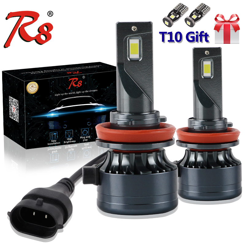 R8 Premium Z7 H7 H11 H8 HB3 HB4 9012 <font><b>H4</b></font> <font><b>LED</b></font> <font><b>Car</b></font> <font><b>Lights</b></font> 50W Headlight Bulbs Canbus EMC Auto Solution No Interference image