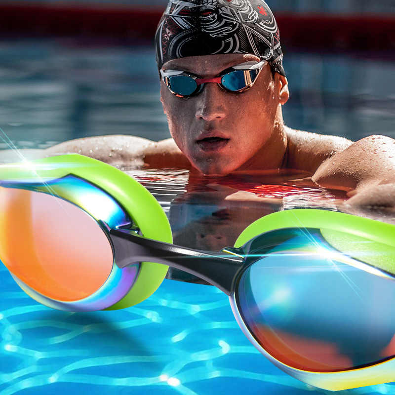 madwave adult Swim goggle eyewear anti-fog waterproof competition swimming goggle professional eye glasses free shipping