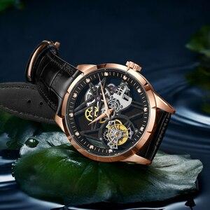 Image 5 - 슈퍼 새로운 모델 원래 뚜르 비옹 비즈니스 남성 시계 톱 브랜드 럭셔리 해골 사파이어 시계 남자 Relogio Masculino