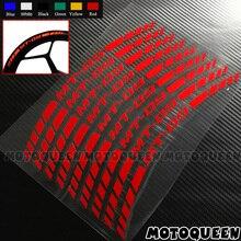 16X دراجة نارية عجلة الحافات الإطارات الزخرفية الشارات شريط عاكس ملصقات لياماها MT 01 MT 25 MT 03 MT 07 MT 09 MT 10