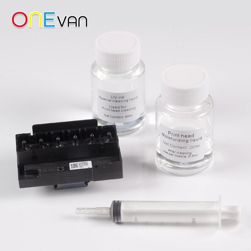 A3/A4UV מדפסת ניקוי נוזל, צילינדר בקבוק UV מדפסת לחות נוזל, ניקוי ראש ההדפסה כדי למנוע סתימה.