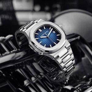 Image 4 - DIDUN Hot top marque de luxe montre hommes 자동 모드 및 acier inoxydable mâle horlogemain 2019