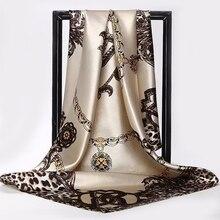 Silk Scarves Wrap Head-Scarf Pareo Poncho Foulard Muffler Chiffon Hijab Bandanna Ladies Shawl