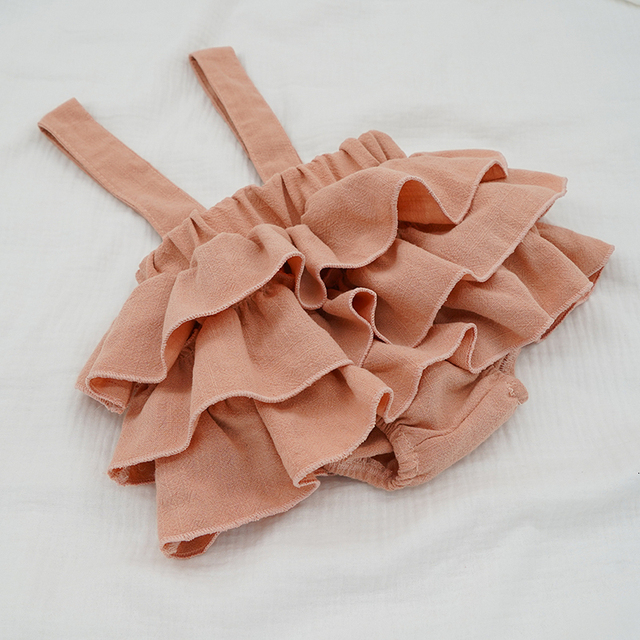 Baby Girl's Ruffle Skirt with Straps 4