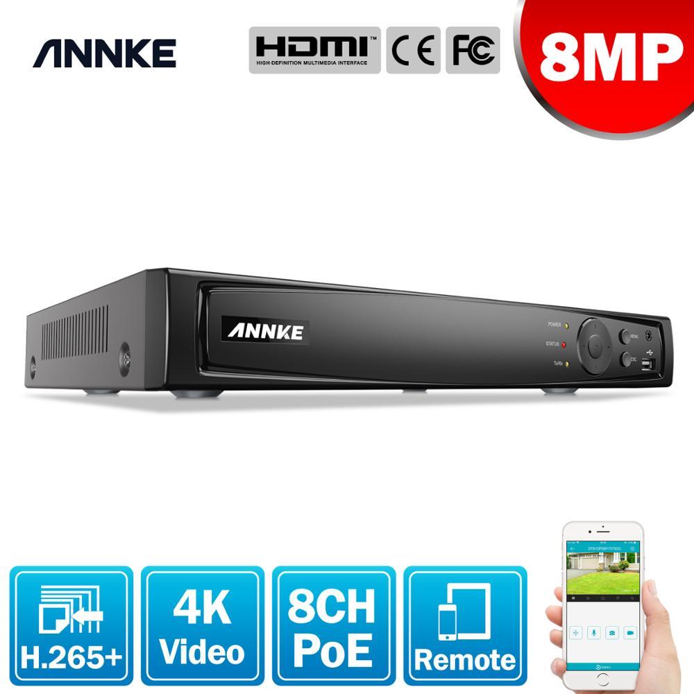 Сетевой видеорегистратор ANNKE 8CH 8MP POE NVR сетевой видеорегистратор NVR для POE IP-камеры P2P облачная функция Plug And Play