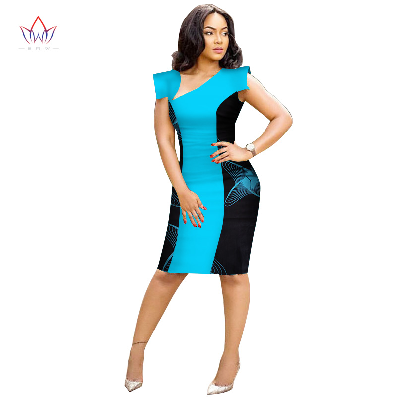 2020 Summer Dresses Plus Size African Dresses For Women Plus Size Women African Clothing Knee Length Everyday Dress 5xl WY3194