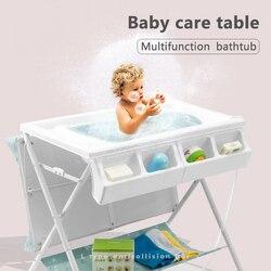 Mesa de cambio Orbelle para bebé, mesa de masaje para el cuidado del bebé, mesa de baño plegable multifunción
