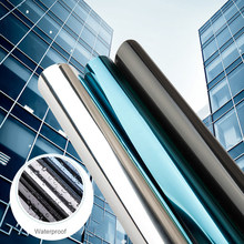 Zon Bescherming Venster Folie Uv Blokkeren Glas Film Privacy Een Manier Spiegel Zilver Isolatie Sticker Solar Reflecterende Window Tint