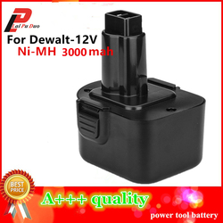 12V Ni-MH 3.0Ah Replacement Power Tool Battery For Dewalt DE9074 DC9071 DE9037 DE9071 DE9074 DE9075 DW9071 DW9072 DW9074