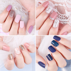 30pcs/box Detachable Fake Nails with Design Set Full Nail Art Tips Colorful Beauty Nail Artificial False Nails Tips With Glue