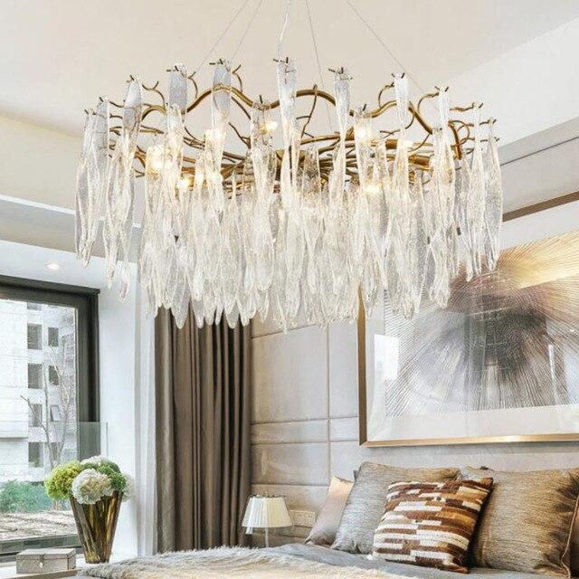 Or Style américain rétro lustres LED éclairage pour salon chambre hôtel Restaurant salle à manger mode