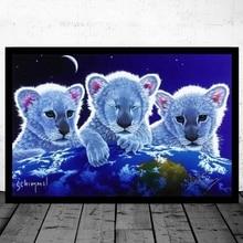 Diamond Painting White Tiger Magic By Schimmel Full Square/Round Animal Embroidery Cross Stitch 5D DIY Rhinestone Home Decor