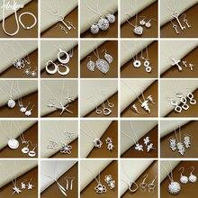Новая мода 925 стерлингового серебра ювелирные наборы Простые Модные насекомых Луна круглый шар ожерелье серьги наборы для женщин подарок