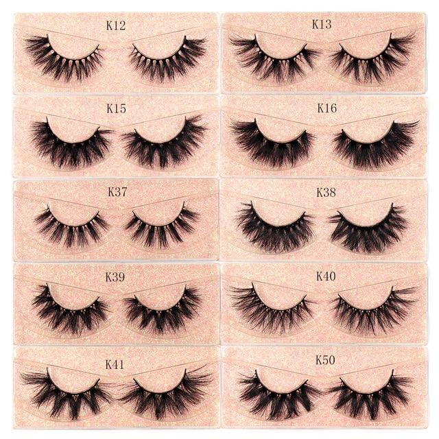 Makeup Mink Eyelashes 100% Cruelty free Handmade 3D Mink Lashes Fluffy Full Strip Lashes Soft False Eyelashes Makeup Lashes 5