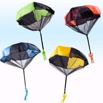 Funny Design Kids Hand Throwing Parachute Toy For Children Educational Parachute With Figure Soldier Outdoor Play Games Sports image