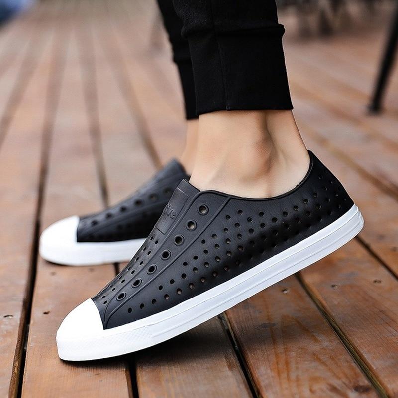 2019 Frank Native Men Summer Clogs Sandals Couple Slip-proof Soft Sandalias Hombre Adult Hollow-out Beach Shoes Waterproof 36-45