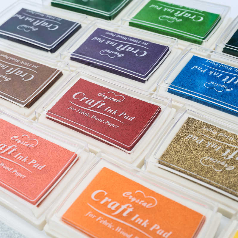1 adet 15 renkler büyük mürekkep pedi damga planlayıcısı Scrapbooking silikon damga Inkpad Diy günlüğü tebrik kartı yapma malzemeleri Inpad