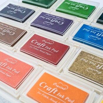 1pc 15 kolory duży odcisk atramentowy znaczek planowanie Scrapbooking pieczęć silikonowa Inkpad Diy pamiętnik kartka z życzeniami akcesoria do rękodzieła Inpad