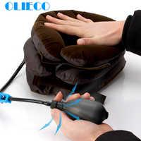 OLIECO 3 Schicht Aufblasbare Neck Zurück Traktion Kragen Schulter Schmerzen Relief Weiche Luft Zervikale Stretch Kissen Brace Universal Größe
