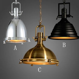 Image 3 - 3 style Loft retro Industrial hanging Hardware metals pendant lamp vintage E27 LED lights For Kitchen bar coffee light fixtures