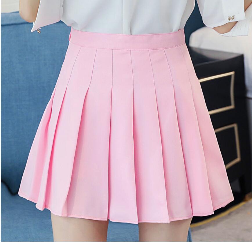Women Pleat Skirt Preppy Style Pleated Skirts Mini Cute Japanese School Uniforms Girl Jupe Kawaii Skirt Saia Faldas