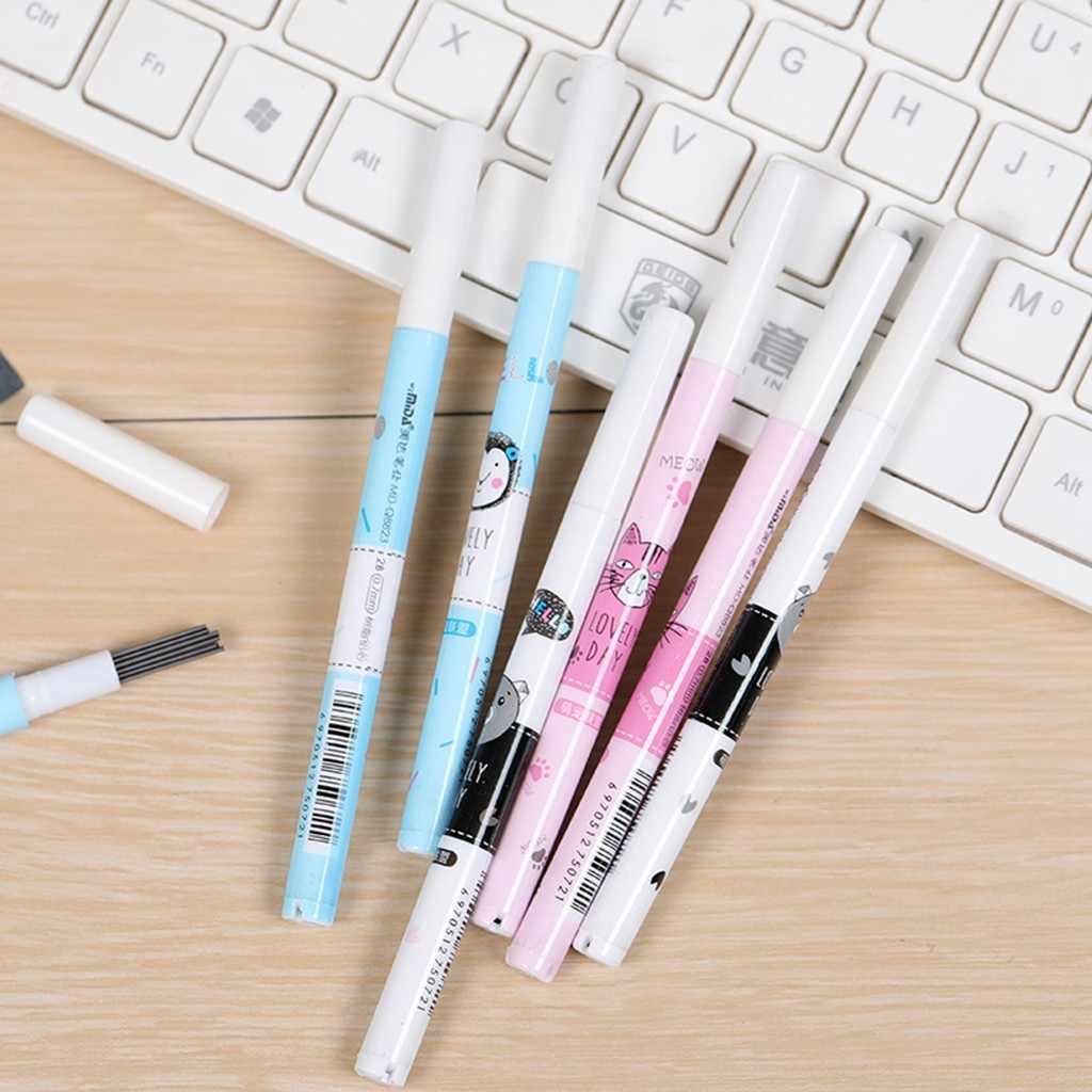 0.7mmLron שרף אוטומטי מילוי עופרת 2B Creative עיפרון עופרת אספקת ספר מתנה תלמיד למידה כלי אוטומטי עיפרון עופרת