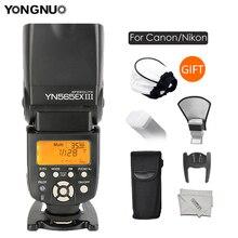 Yongnuo YN 565EX III YN565EX TTL מבזק פלאש עבור Canon 6D 60d 650d עבור ניקון D7100 D3300 D7200 D5200 D7000 D750 d90
