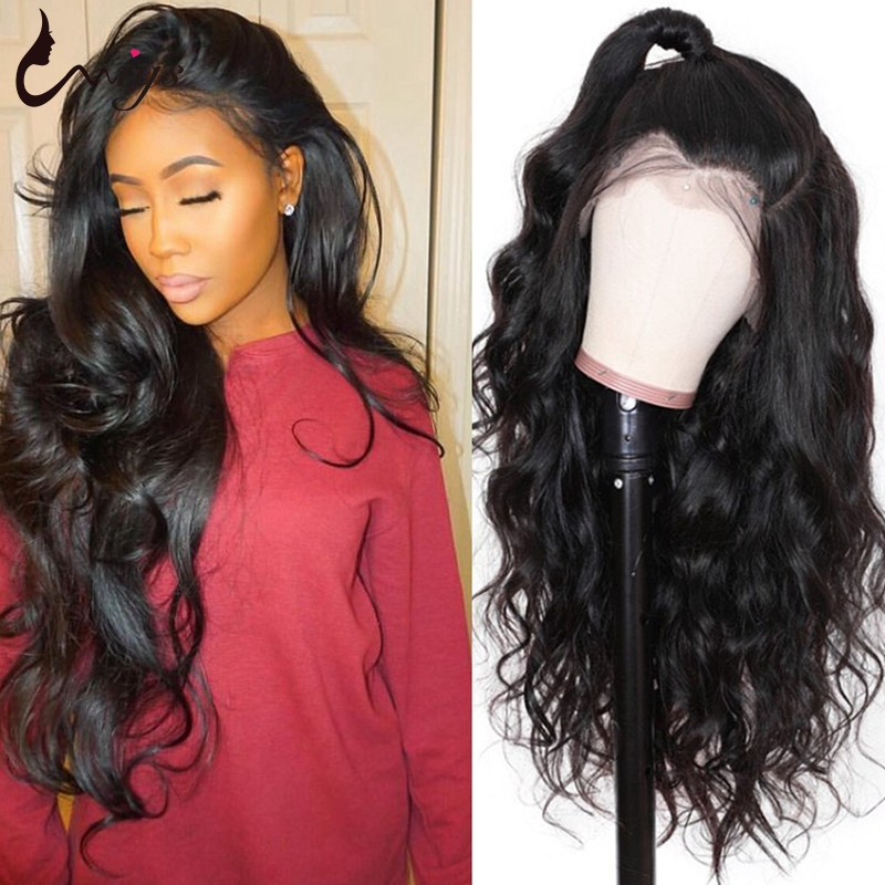 Uwigs Full Lace Human Hair Wigs Pre Plucked With Baby Hair Brazilian Body Wave Wig Transparent Remy Hair Wigs 150% Density