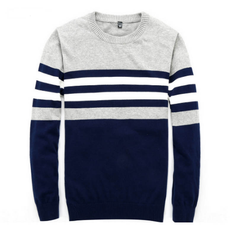 Sweater Men  New Arrival Casual Pullover Men Autumn Round Neck Patchwork Quality Knitted Brand Male Sweaters