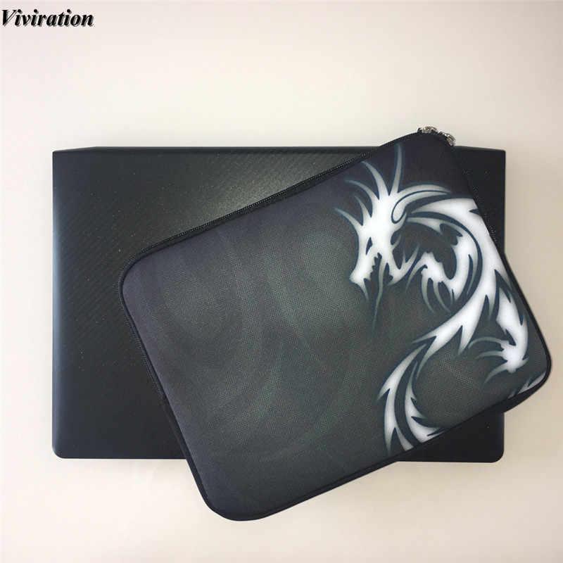 Manga bolsa de neopreno para computadora cremallera funda de portátil 15 15,4 de 15,6 pulgadas huellas Unisex Bolsas para Xiaomi mi cuaderno Pro 15,6